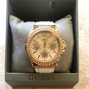 Guess Watch - Rose Gold and White